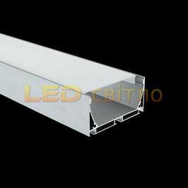 Профиль для светодиодной ленты накладной ЛС-75 1м (комплект анодированный)