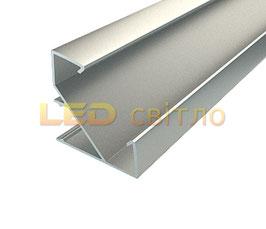 Профиль для светодиодной ленты угловой ЛПУ-17 1м (комплект анодированный)