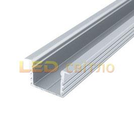 Профиль для светодиодной ленты врезной ЛПВ-12 1м (комплект анодированный)