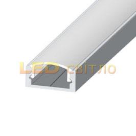 Профиль для светодиодной ленты накладной ЛП-7 1м (комплект анодированный)