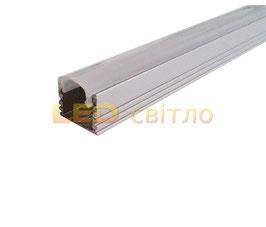 Профиль для светодиодной ленты накладной ЛП-12 1м (комплект анодированный)