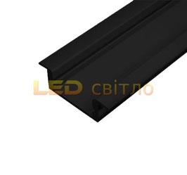 Профиль для светодиодной ленты врезной ЛПВ-7 цветной 1м (комплект анодированный)