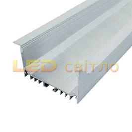 Профиль для светодиодной ленты врезной ЛСВ-55 1м (комплект анодированный)