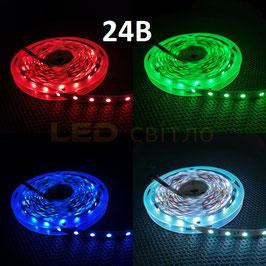 Светодиодная лента 24В RGB SMD 5050 60 д/м IP20