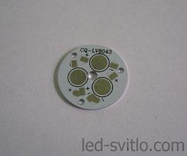 Подложка для 3-х светодиодов мощностью 1-3Вт 28мм