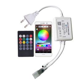 Контроллер для RGB неона 220в Bluetooth с ИК пультом