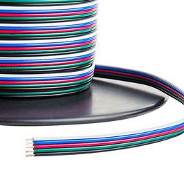 Кабель для светодиодной ленты RGBW 5*0.35мм2