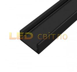 Профиль для светодиодной ленты накладной ЛП-7 цветной 1м (комплект анодированный)