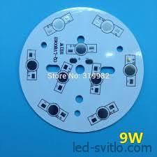 Подложка для 9-и светодиодов мощностью 1-3Вт 78мм