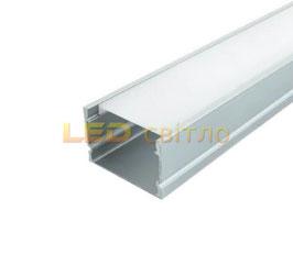 Профиль для светодиодной ленты накладной ЛП-20 1м (комплект анодированный)