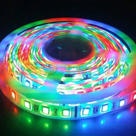 Светодиодная лента Бегущая волна RGB 5050 54LED/m 3LED IP65 (в силиконе)
