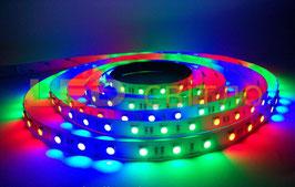 Светодиодная лента Бегущая волна RGB 5050 54LED/m 3LED IP20 (без силикона)