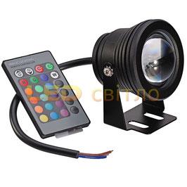 RGB прожектор 10Вт 220В с линзой