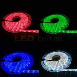 Светодиодная лента RGB SMD 5050 60 диодов на метр IP65(в силиконе)