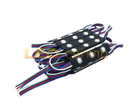 Светодиодный модуль SMD5050 3LED ip67 RGB с линзой