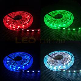 Светодиодная лента RGB SMD 5050 60 диодов на метр IP20(без силикона)