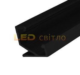 Профиль для светодиодной ленты угловой ЛПУ-17 цветной 1м (комплект анодированный)