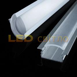 Профиль для светодиодной ленты врезной ЛПВ-7 1м (комплект анодированный)