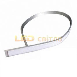 Профиль для светодиодной ленты гибкий 1м (комплект анодированный)