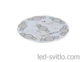 Подложка для 7-и светодиодов мощностью 1-3Вт 49мм