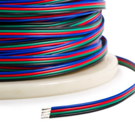 Кабель для светодиодной ленты RGB 4*0.35мм2