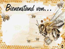 """Bienenstandtafel """"unbeschriftet"""" mit oder ohne Kärntner Bär"""