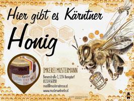 """Hoftafel für Imker """"mit individuellem Textfeld"""""""