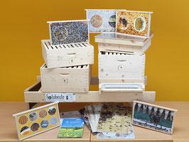 Fotobeute Komplettsystem mit 30 Fotorähmchen, 5 Fotowindeln und 1 Beutenbock