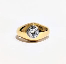 Bague jonc diamant