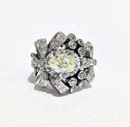 Bague années 50 diamants