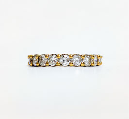 Alliance américaine or jaune diamants