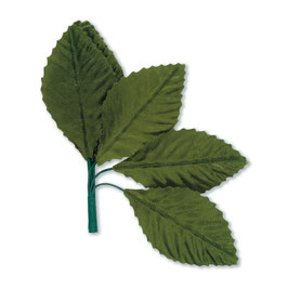 Stoff-Blatt, klein, dunkelgrün, 12 St.