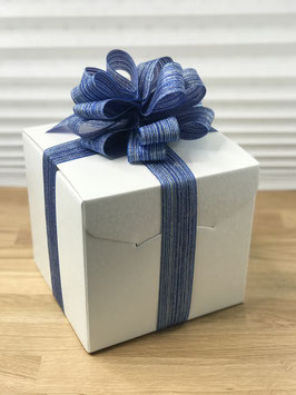 Geschenkbox Palermo weiß - 20x20x18 cm