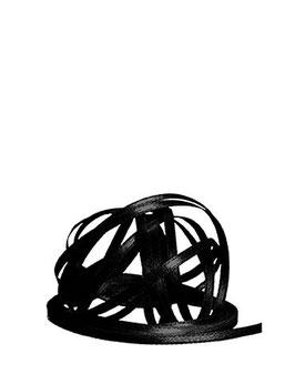 Satinband schwarz 3 mm - 25 Meter