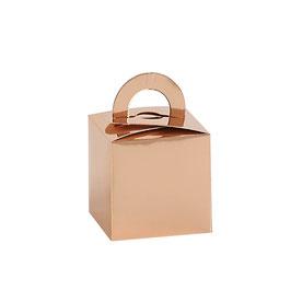 10 Geschenkboxen rose-gold metallic 9,5x6,7x6,7 cm