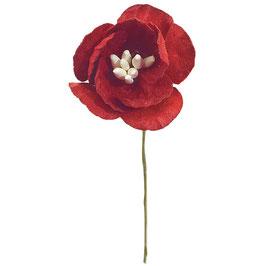 12 Papier Kirschblüten rot