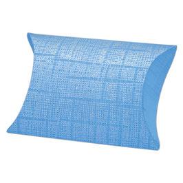 Kissen Geschenkschachtel blau (Pillow Box)