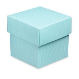 Geschenkschachtel aqua Quadrat mit Deckel, 10 Stück