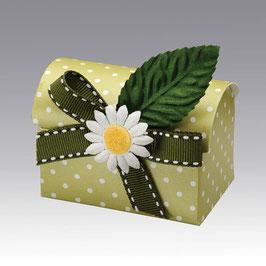 Set: Truhen Schachtel Dots grün B