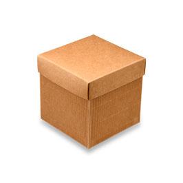 Geschenkbox Wellkarton mittelgroß - 12x12x12 cm