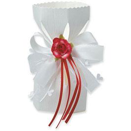 Saccolo Geschenkbox weiß, 10 Stück - 6x12 cm