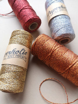 Metallic Twine gold - 100 Meter