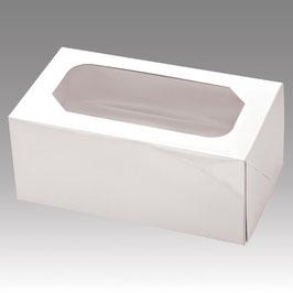 Cupcake Geschenkbox 2er weiß, 2 Stück - 17,5x10x7,5 cm