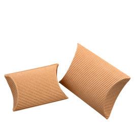Pillow Box Natur klein, 10 St. - 7x7x2,5 cm