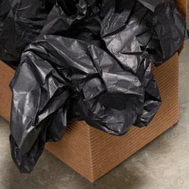 Seidenpapier schwarz - 5 Bögen