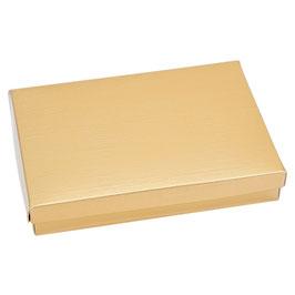 Geschenkbox gold Rechteck mit Deckel B - 22x16x4 cm
