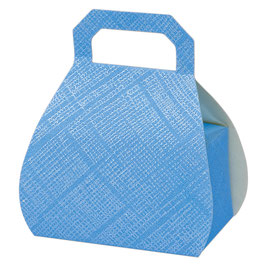 Handtaschen Geschenkschachtel blau, 10 Stück