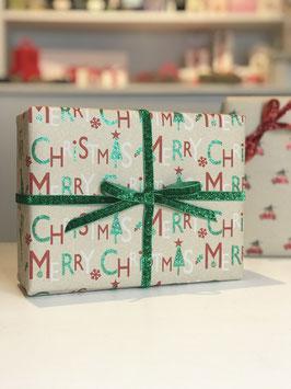 Geschenkpapier XMAS Glitter - 2 Stück