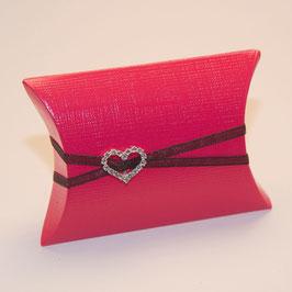 Set: Kissen Faltschachtel pink
