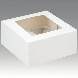 Cupcake Geschenkschachtel für 4 Stück weiß
